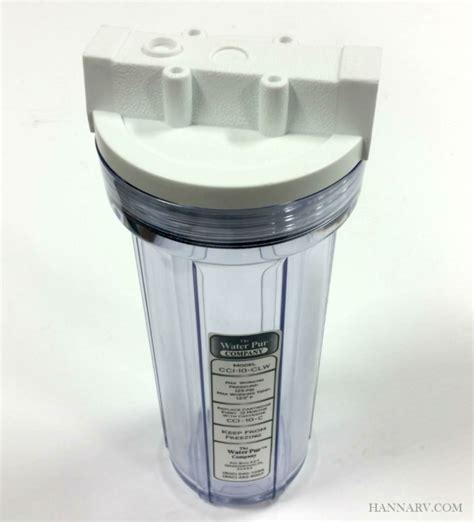 water pur company cci  clw   rv water filter canister hanna trailer supply