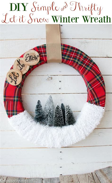 pinterest christmas made out of tulldecorating ideas quot let it snow quot wreath the happy housie