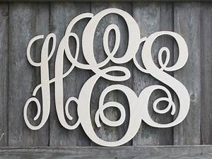 wooden monogram letters all sales support our by kidbizletters With wooden initial letters monogram