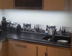 exceptional cuisine blanche plan de travail noir 5 With eclairage led plan de travail cuisine