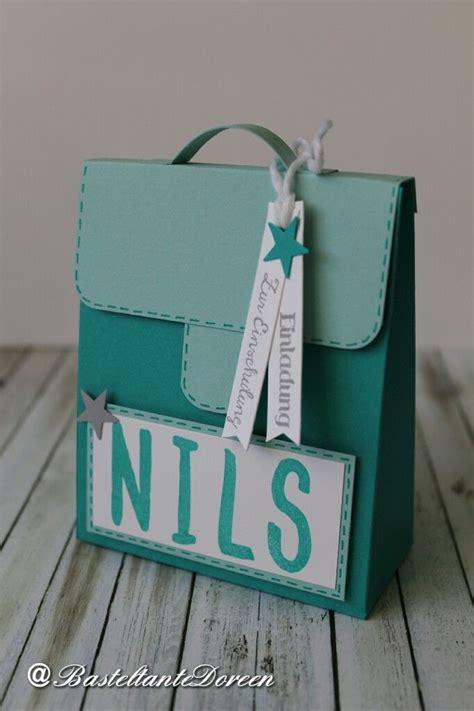 geschenke zur einschulung basteln schulranzen als einladung mit anleitung anleitung geschenkidee einschulung einladungskarten