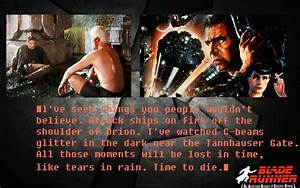 Rutger Hauer Qu... Blade Runner Love Quotes