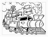 Train Coloring Toddlers Printable Simple Toddler Getcolorings sketch template