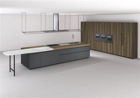cuisine intégrée avec îlot boffi code kitchen by boffi
