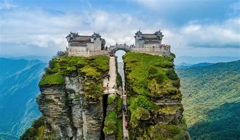 Wuling Backgrounds by The Temples Of Mount Fanjing Amusing Planet