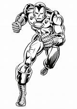 Iron Fun Coloring Ironman Pages sketch template