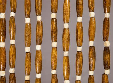 rideau de porte en perles de bois 90 x 200 cm jardideco