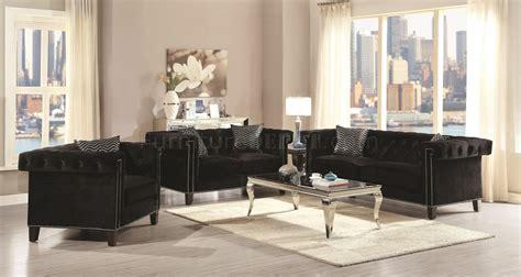 reventlow sofa   black velvet fabric coaster