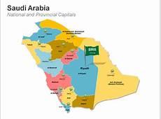 Saudi Arabia Map Editable PPT PowerPoint Pr