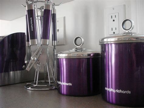 Kitchen Accessories : Kitchen Decorating Using Purple Kitchen Accessories