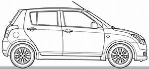 car blueprints suzuki swift blueprints vector drawings With suzuki swift car