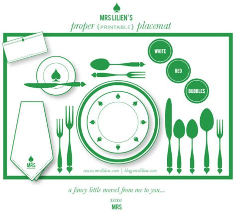 printable placemat  lilien  love dinner