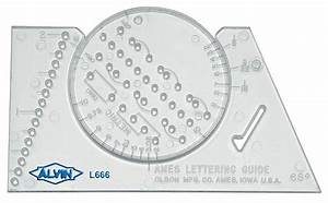 alvin ames lettering guide hand lettering template stencil With lettering guide