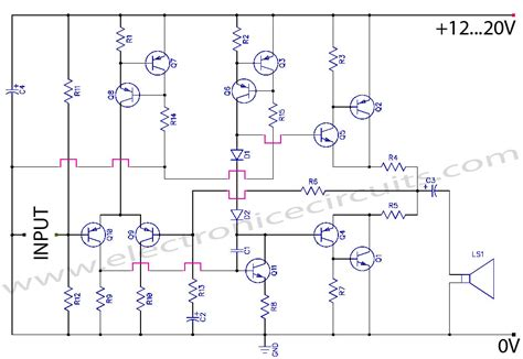 Class Amplifier Curcuit With Pcb Layout Circuit