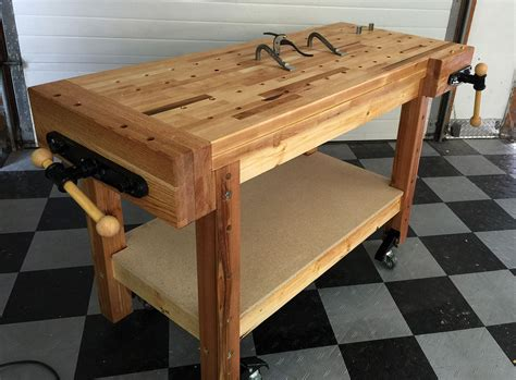building  real woodworkers workbench