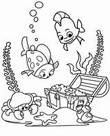 Coloring Treasure Sunken Pages Animals Topcoloringpages Water Sea Ocean Printable Fish Underwater Crab Drawing источник sketch template