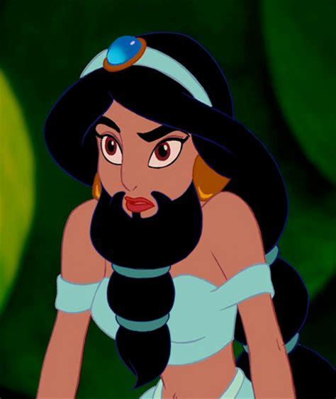 disney princesses  beards