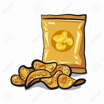Chips Clipart Potato Bag Crisps Chip Kartoffelchips