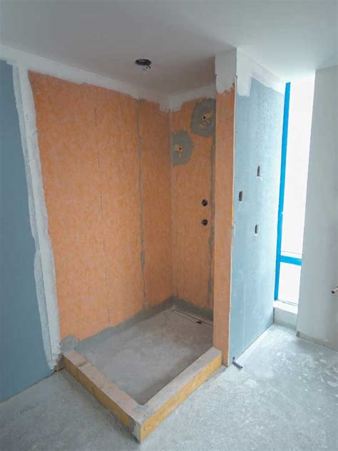 waterproofing shower walls before tiling building waterproof showers in high rise structures