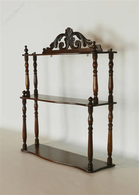 Antique Etagere by Antique Mahogany Etagere Wall Shelf Antiques Atlas