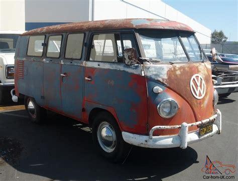 volkswagen original paint double door camper van
