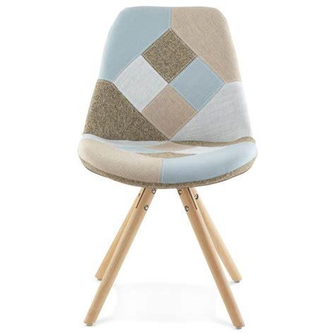 chaise tissu gris chair patchwork style scandinavian bohemian fabric blue