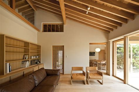 timber framed japanese house built  private gardens idesignarch interior design
