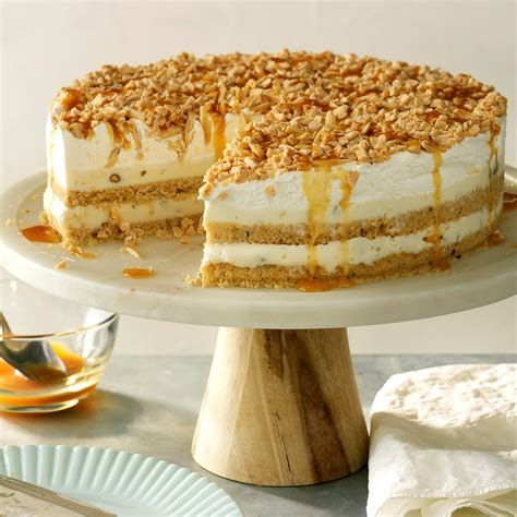 nutty caramel ice cream cake recipe taste  home