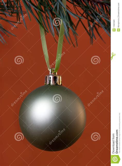 big christmas baubles and fir branches stock image image