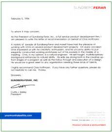 letter of recommendation sles