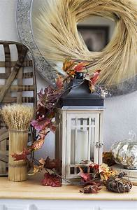 Diy, Fall, Centerpiece, Idea, With, Rustic, Lantern