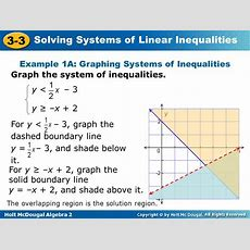 33 Solving Systems Of Linear Inequalities Warm Up Lesson Presentation  Ppt Video Online Download