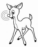 Reindeer Rudolph Coloring Nosed Clipart Drawing Clipartmag Colorluna sketch template