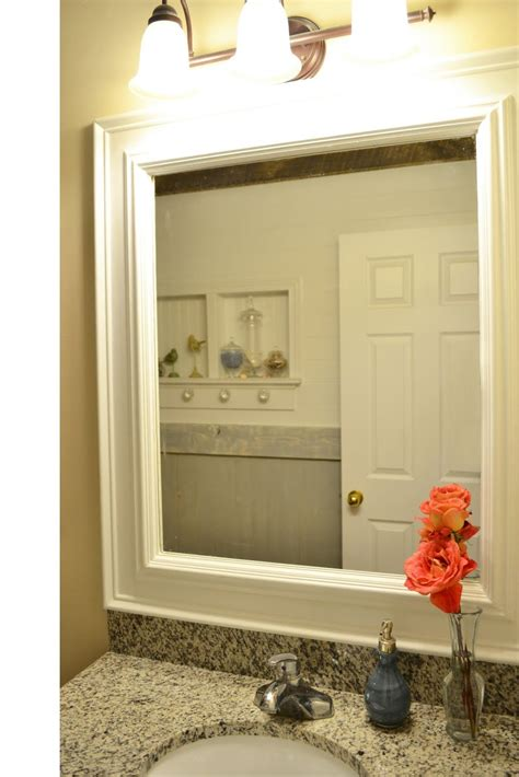 bathroom mirror trim ideas trim around mirrors deck out my home what you can do