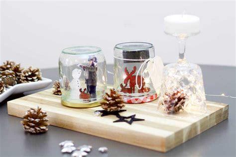 schneekugel selbst gestalten diy eine weihnachtliche schneekugel mit eigenen fotos basteln ifolor