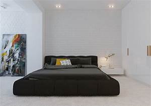 modern-minimalist-black-bedroom-pillow-design : OLPOS Design