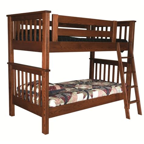 mission twin  twin bunk bed solid wood bunk bed