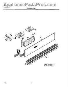 Parts For Frigidaire Gleb30t8csa  Control Panel Parts