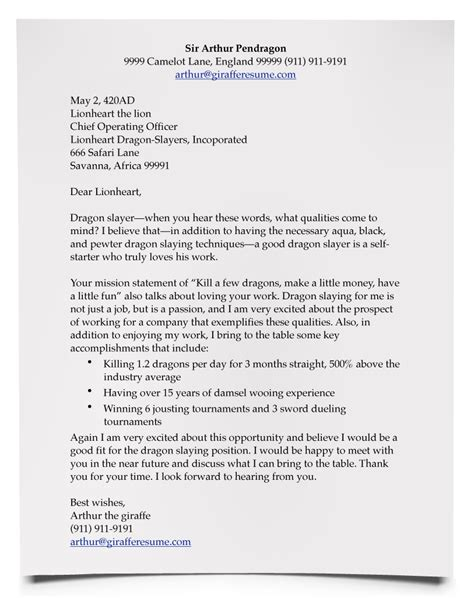 rtf what to say in a resume cover letter