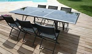 Salon De Jardin En Aluminium Pas Cher : salon de jardin design sunny en aluminium avec rallonge ~ Dailycaller-alerts.com Idées de Décoration