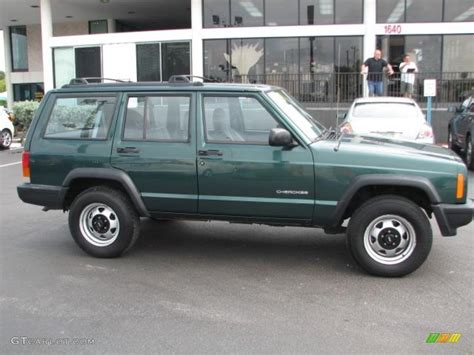 jeep cherokee green 2000 forest green pearl 1999 jeep cherokee se exterior photo