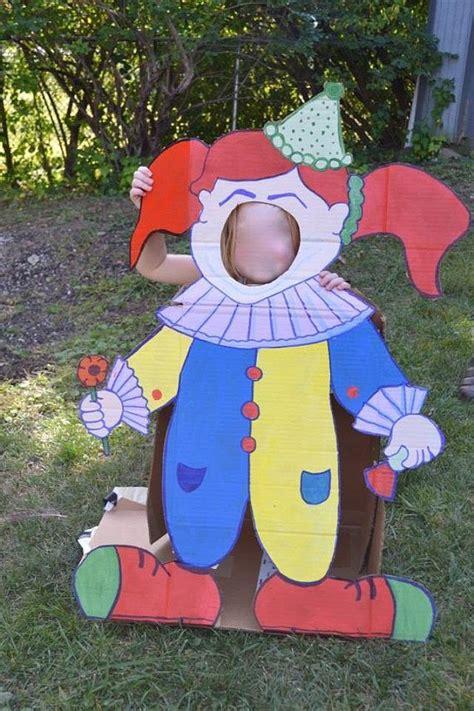 carnival photo booth prop foam board clown standee