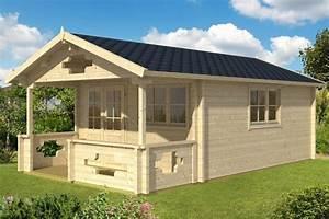 Gartenhaus Mit Terrasse : gartenhaus mit vordach und terrasse sommerland b 19m 70mm 4x5 hansagarten24 ~ Whattoseeinmadrid.com Haus und Dekorationen