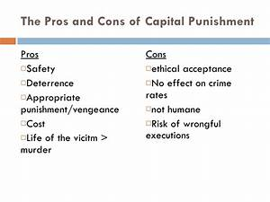 death penalty pro con
