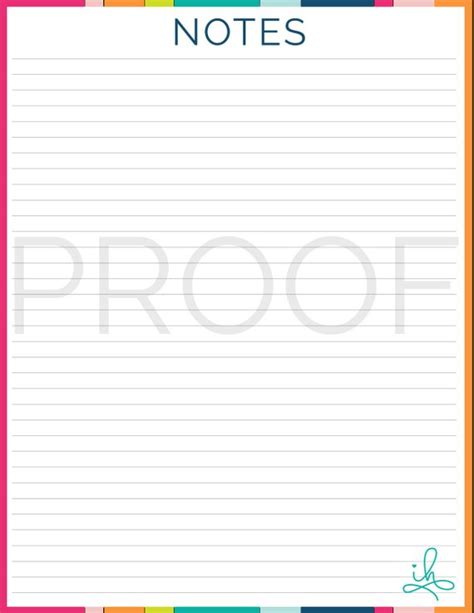 notes page notes page printable instant