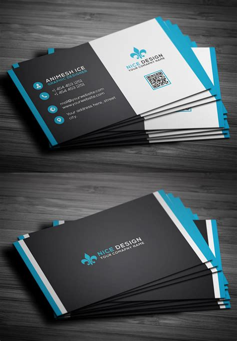 business card psd templates mockups design