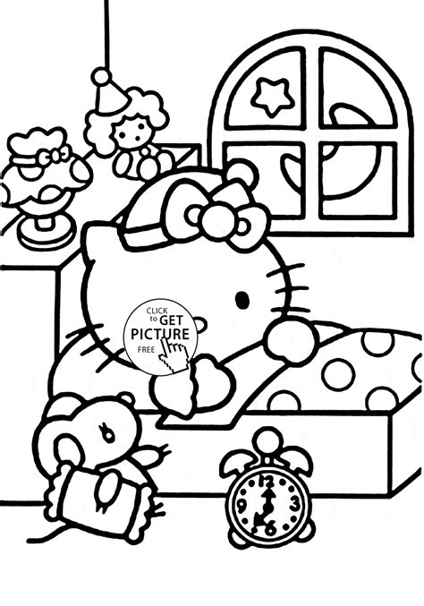Elegant Printable Hello Kitty Coloring Pages For Kids