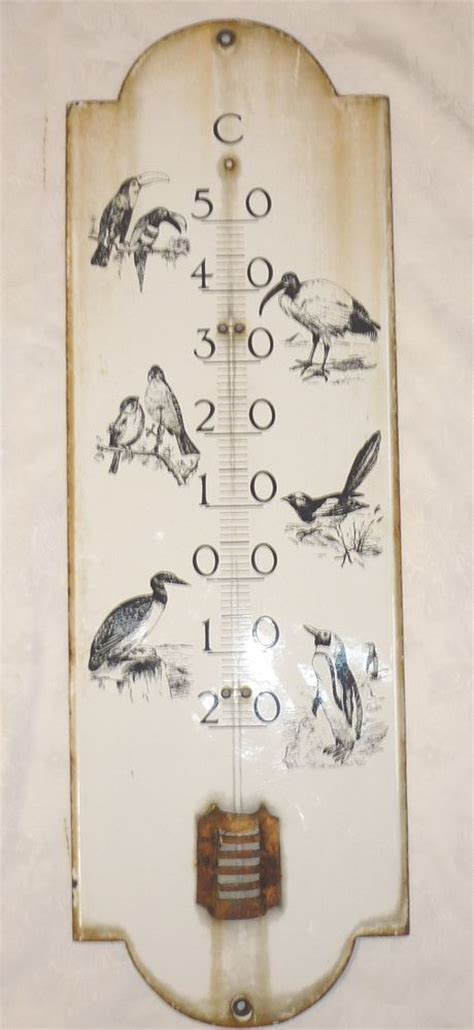 plaque emaill馥 ancienne cuisine originale grande plaque emaillee ancienne thermometre decor d oiseaux 70 cm plaque émaillée décor