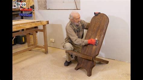 fabrication d une chaise en bois fabriquer une chaise à palabre en bois tuto brico avec