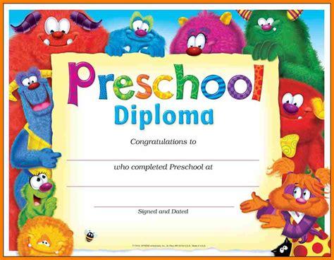 preschool diploma template preschool graduation certificate template 3 professional and high quality templates